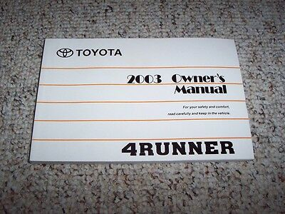 2003 toyota 4runner owners manual download