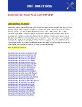 nissan navara repair manual free download