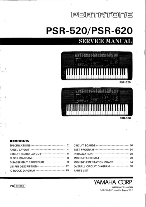 yamaha psr 730 manual pdf