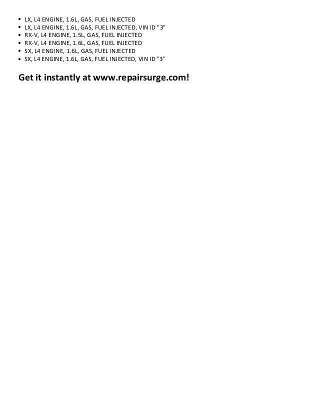 2001 kia rio repair manual download