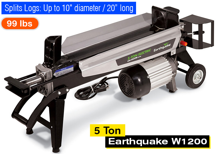 earthquake log splitter model w1200 manual