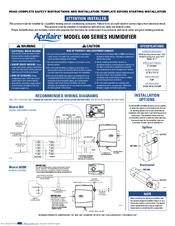 aprilaire humidifier model 60 manual