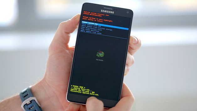 how to manually factory reset samsung galaxy note 4