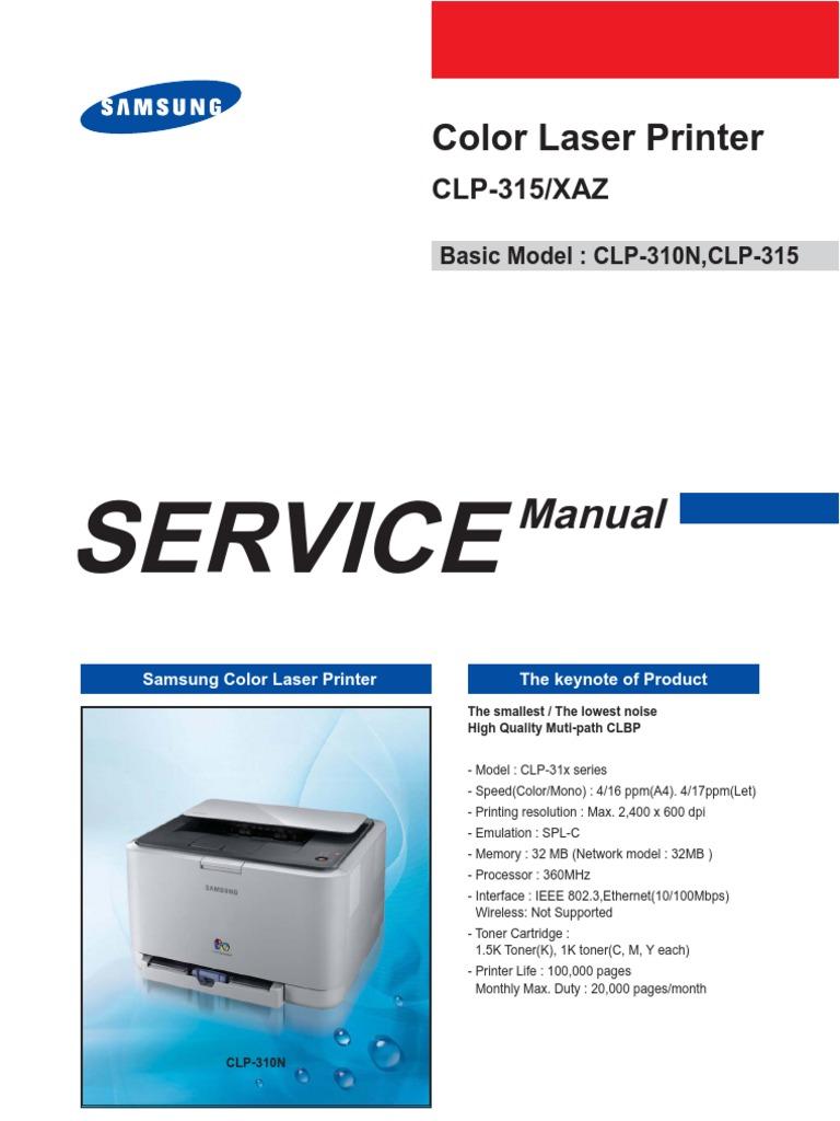 samsung clp 360 service manual