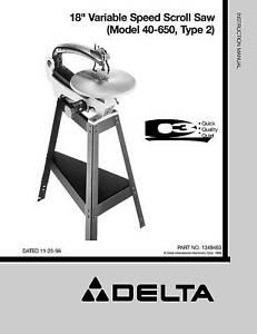 delta scroll saw model ss350 manual