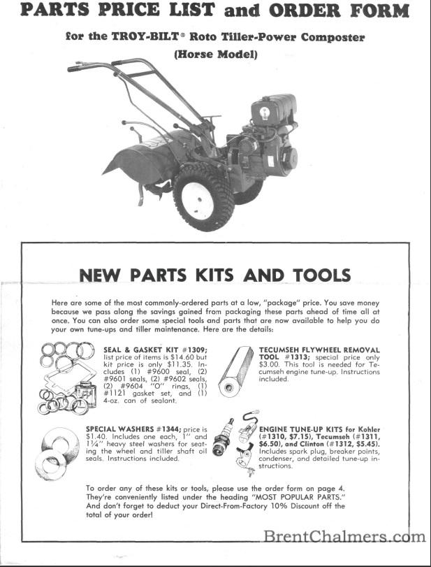 troy bilt pony rototiller manual pdf