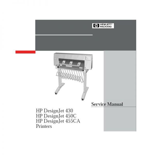 hp designjet 430 large format printer manual