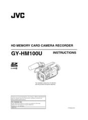 jvc gy hm100u manual pdf