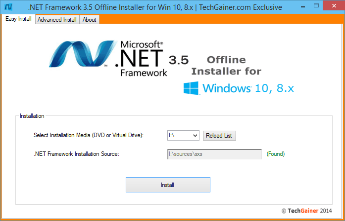 manually download net 3.5 for windows 10