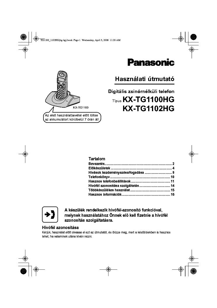 panasonic kx tga110cx manual download